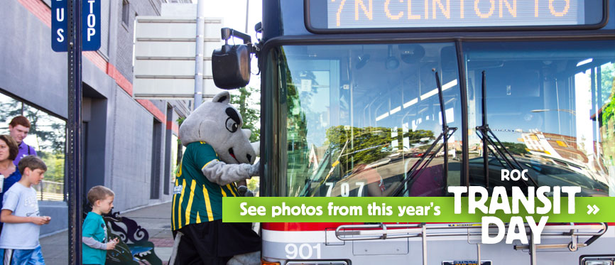 See photos from this year's ROC Transit Day...