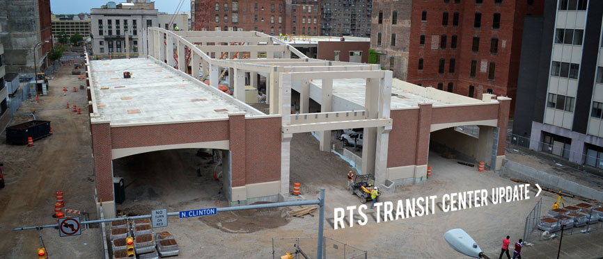 Get an update on the new RTS Transit Center...