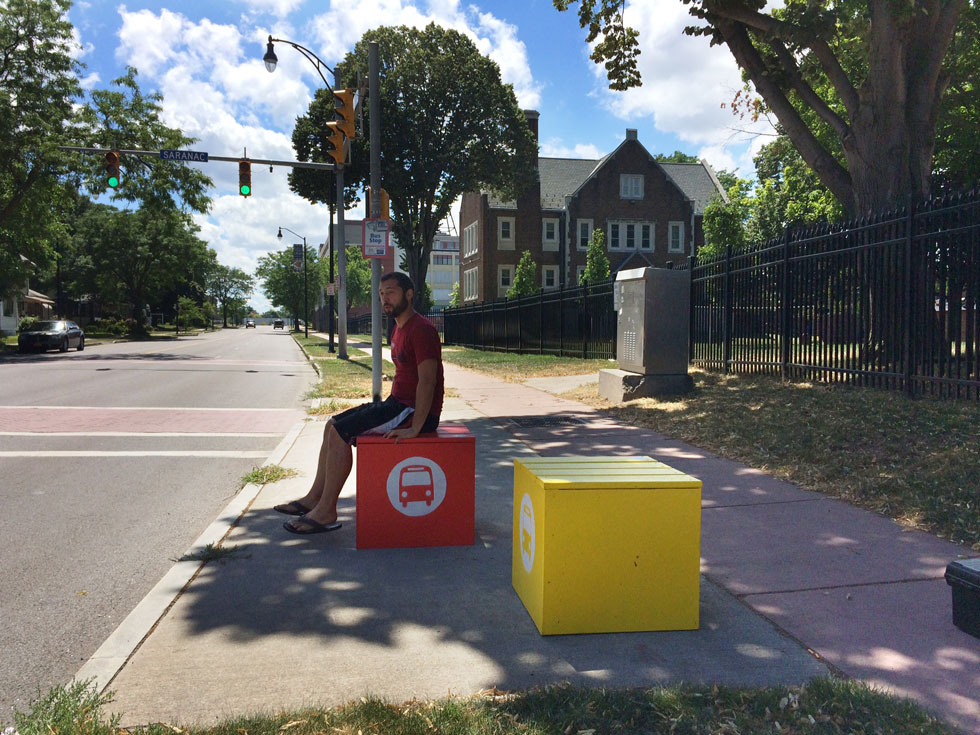 This summer, Reconnect Rochester placed these bus stop cubes at several locations around the city. With your help, we hope to add more next spring.