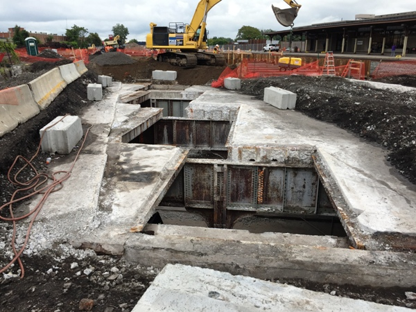 Clinton Ave. skylight #3 demolition is completed and ready for steel placement. 8-14-15 [PHOTO: NYSDOT]